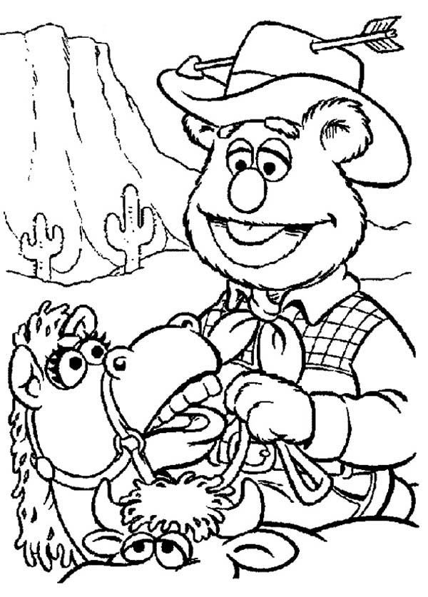The Muppets, : The Muppets Fozzie Bear Wild West Cowboy Coloring Pages