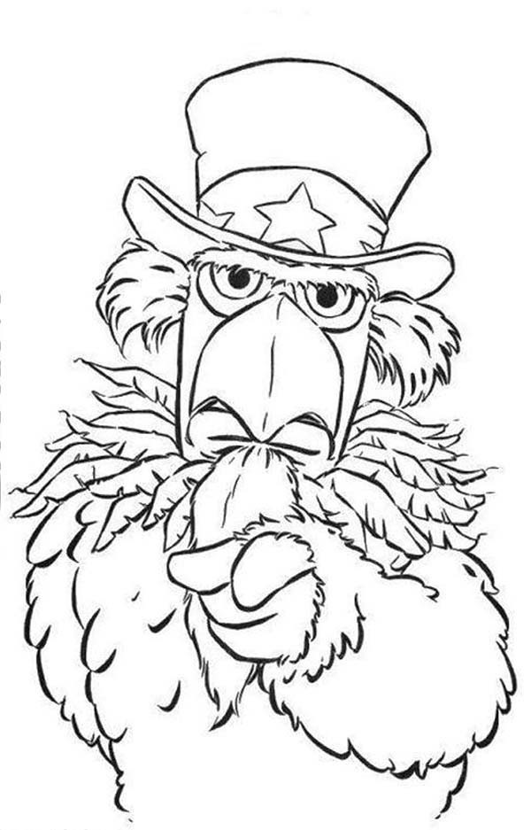 The Muppets, : The Muppets Grumpy Bird Coloring Pages