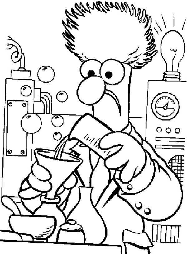 The Muppets, : The Muppets Mixing Chemical Fluid Coloring Pages