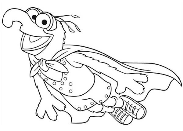 The Muppets, : The Muppets Show Learn to Fly Coloring Pages