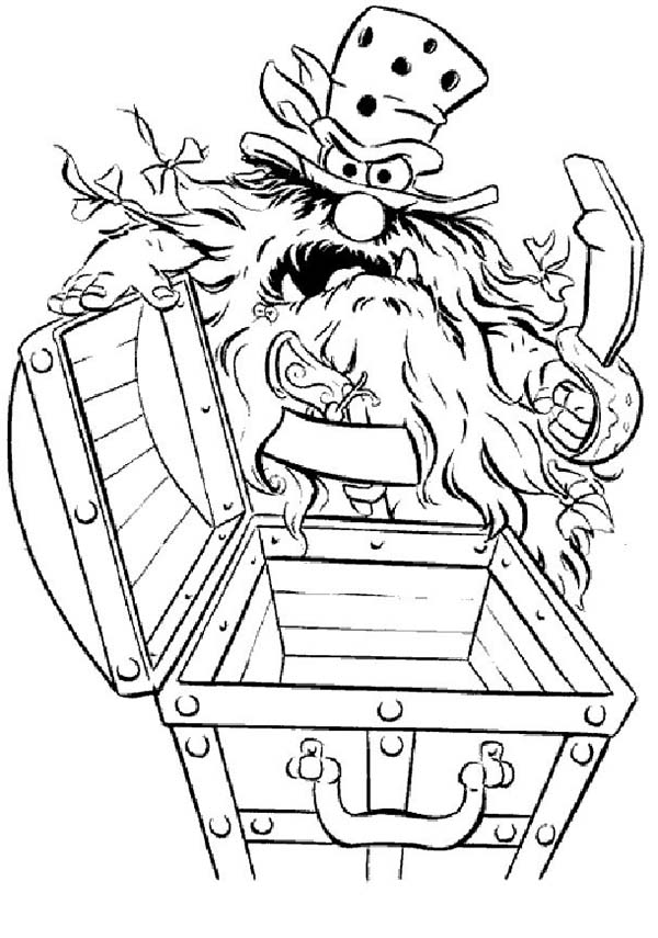 The Muppets, : The Muppets Sweetums Found Empty Treasure Chest Coloring Pages