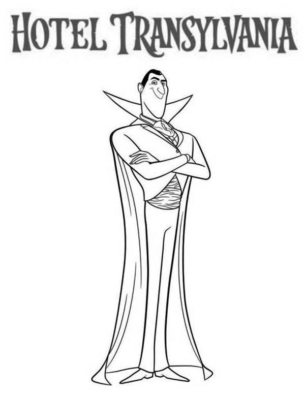 Hotel Transylvania, : The Scarry Count Dracula from Hotel Transylvania Coloring Pages