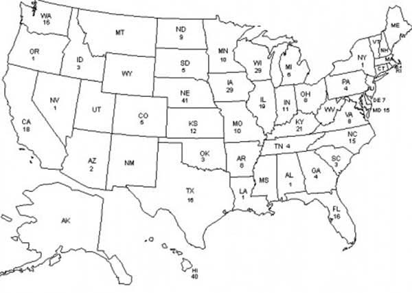 Maps, : United States of America Maps Coloring Pages