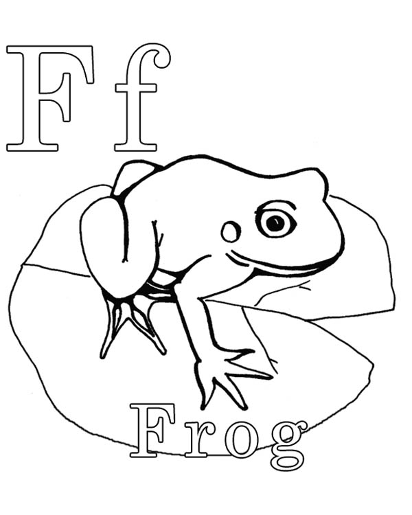 Letter F, : Uppercase Letter F Coloring Page