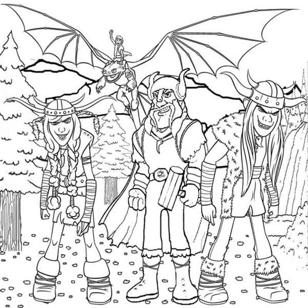 How to Train Your Dragon, : Viking Dragon Rider from How to Train Your Dragon Coloring Pages