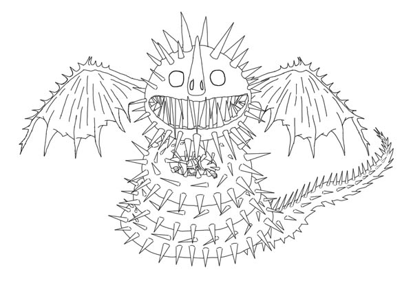 How to Train Your Dragon, : Zippleback from How to Train Your Dragon Coloring Pages
