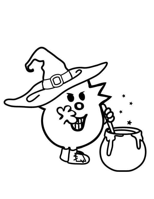Mr Men and Little Miss, : Zombie and Witches Magic Potion in Mr Men and Little Miss Coloring Pages 2