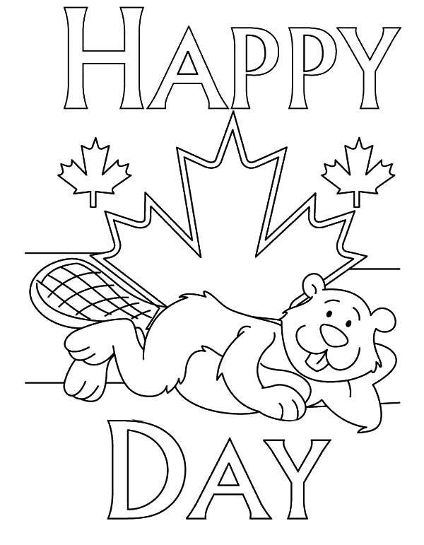 Canada Day, : A Cheerful Canada Day Coloring Pages