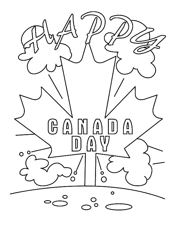 Canada Day, : A Joyous Canada Day Coloring Pages