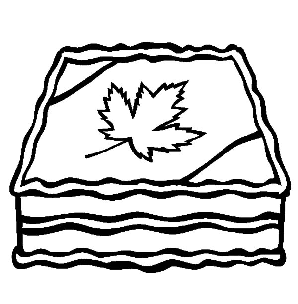Canada Day, : A Tasty Canada Day Cake Coloring Pages