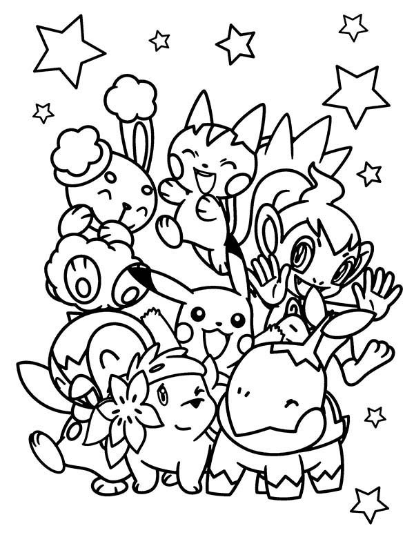 Pokemon, : All Pokemon Chiby Characters Coloring Pages