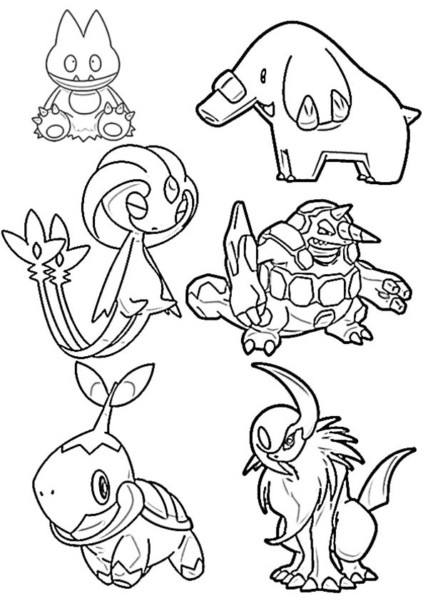Pokemon, : Awesome Pokemon and Friends Coloring Pages