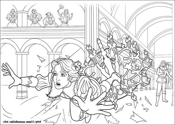 Barbie and Three Musketeers, : Barbie and Three Musketeers Coloring Pages Throwing Big Lamp