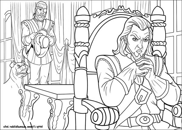 Barbie and Three Musketeers, : Barbie and Three Musketeers Coloring Pages Villain Evil Plan