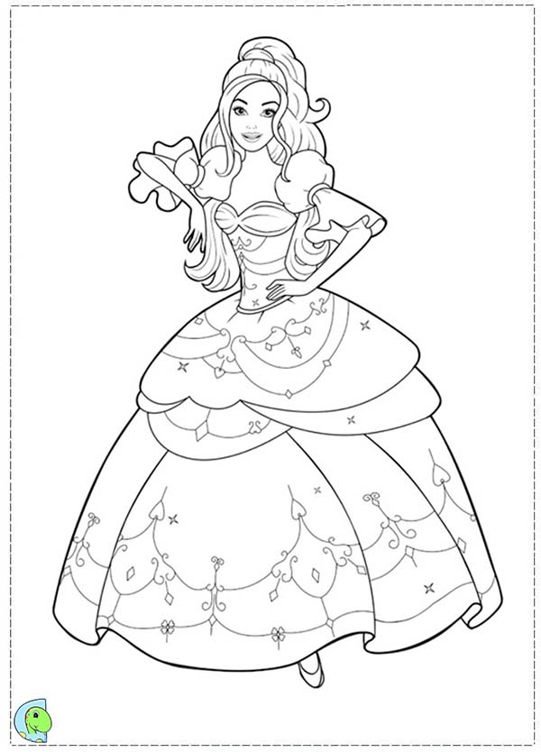 Barbie and Three Musketeers, : Barbie and Three Musketeers Coloring Pages Wearing Beautiful Dress
