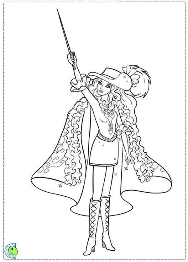 Barbie and Three Musketeers, : Barbie and Three Musketeers Coloring Pages for Kids