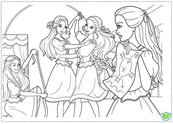 Barbie And Three Musketeers Coloring Pages Learn To Dance Bulk Color