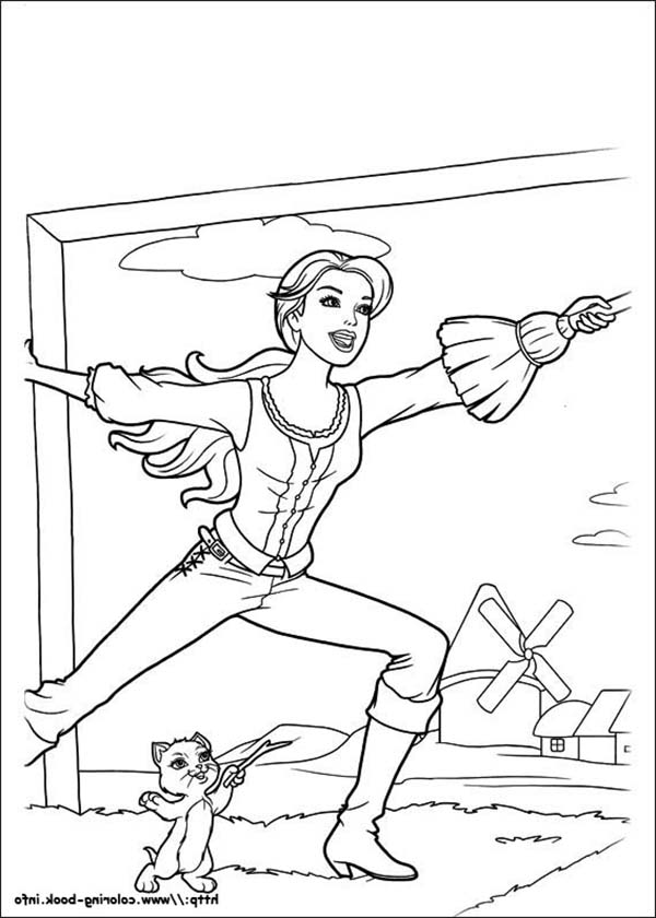 Barbie and Three Musketeers, : Barbie and Three Musketeers Practise with Little Cat Coloring Pages