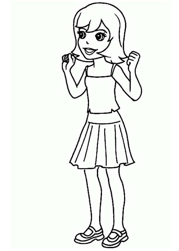 Polly Pocket, : Beautiful Crissy from Polly Pocket Coloring Pages