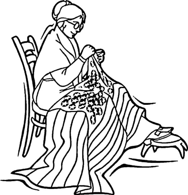 Independence Day, : Betsy Ross Sewed American Flag for 4th July Independence Day Coloring Page