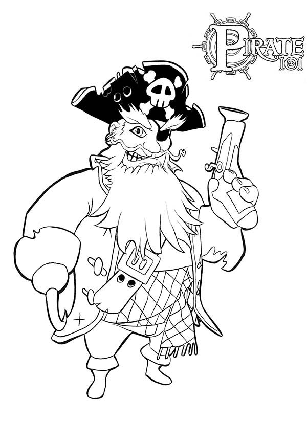 Pirates, : Boochbeard Pirate Coloring Pages