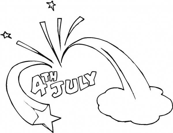 Independence Day, : Celebration of 4th July Independence Day Coloring Page