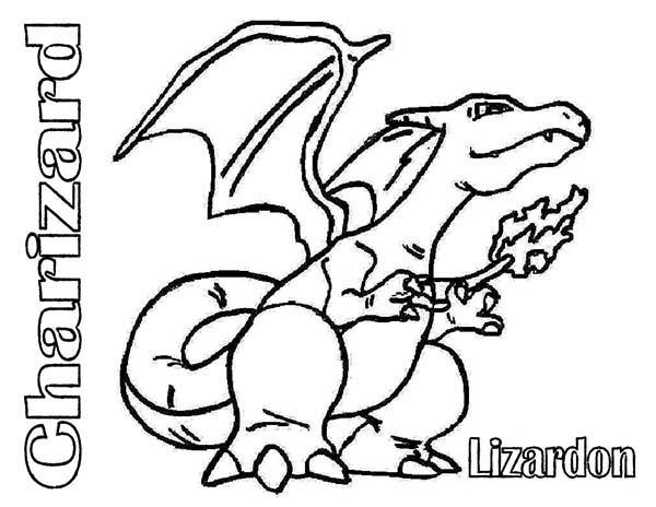Pokemon, : Charizad Pokemon Lizardon Coloring Pages