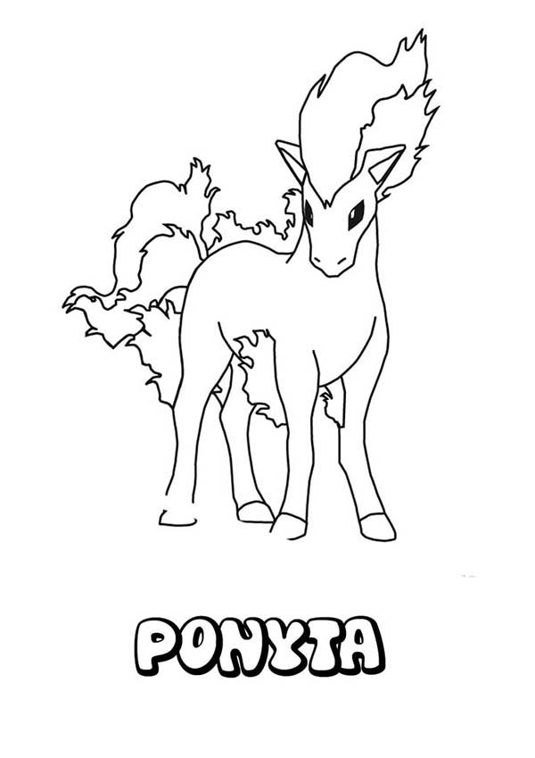 Pokemon, : Charming Ponyta Pokemon Coloring Pages