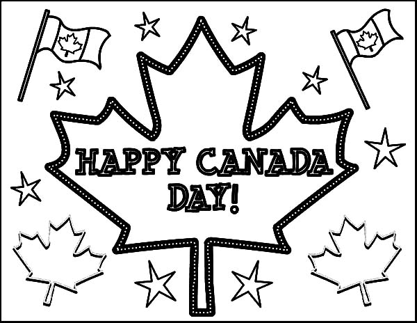 Canada Day, : Cheerful Celebration on Canada Day Coloring Pages