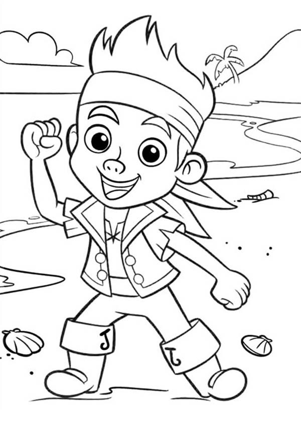 Pirates, : Chibi Jake Neverland Pirate Coloring Pages