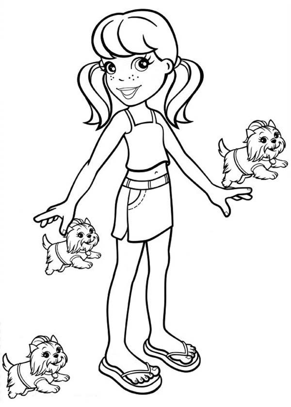 Polly Pocket, : Crissy Have a Lot of Kitten in Polly Pocket Coloring Pages