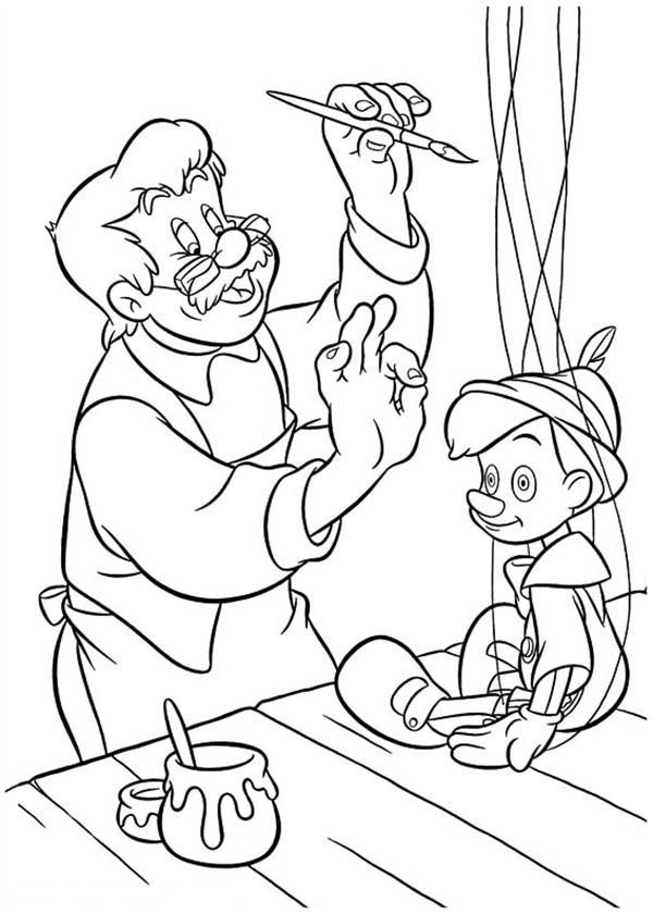 Pinocchio, : Disney Pinocchio Coloring Pages