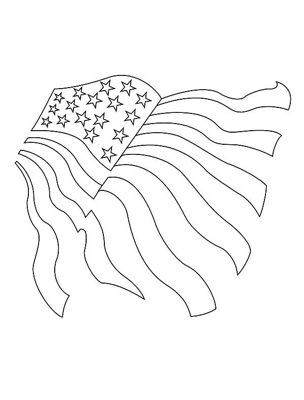 Independence Day, : Drawing American Flag for 4th July Independence Day Coloring Page 2