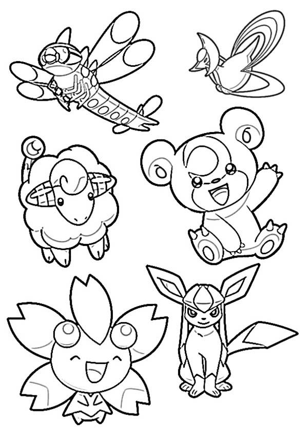 Pokemon, : Drawing Chiby Pokemon Coloring Pages