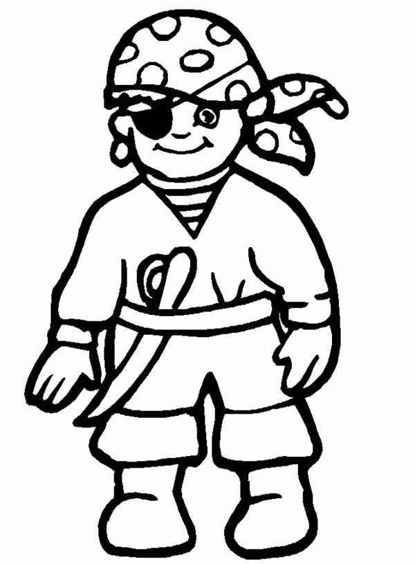 Pirates, : Drawing Little Pirate Coloring Pages