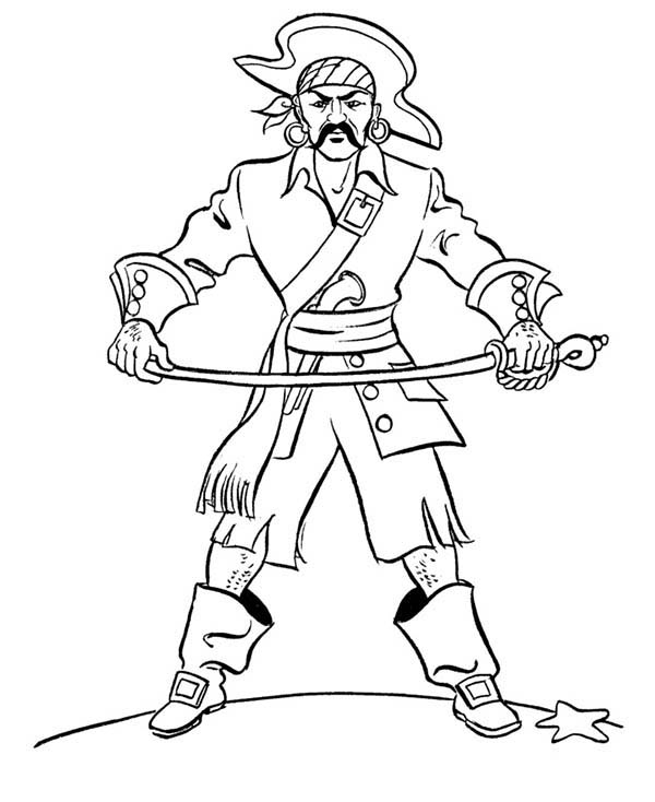 Pirates, : Famous Pirate Jean Lafitte Coloring Pages