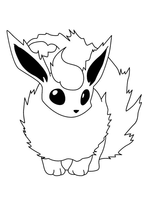 Coloring Pages Flareon Bulk Color