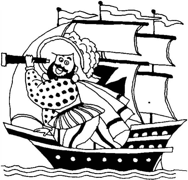 Pirates, : Funny Pirate Coloring Pages