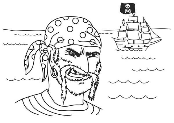 Pirates, : Goverment Wanted Pirate Coloring Pages