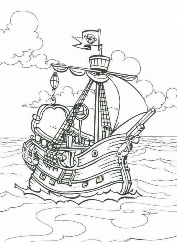 Piet Pirate, : Great Piet Pirate Ship Coloring Pages