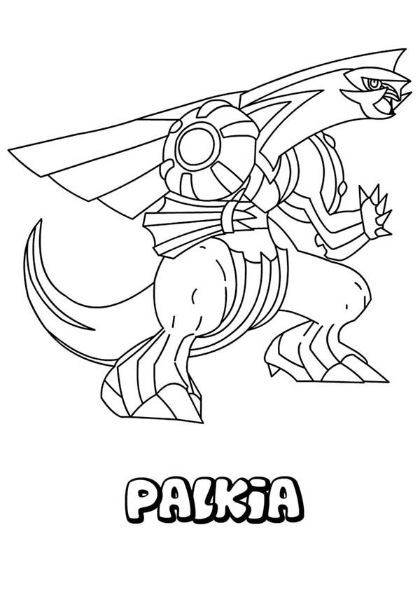 Pokemon, : Great Pokemon Palkia Coloring Pages