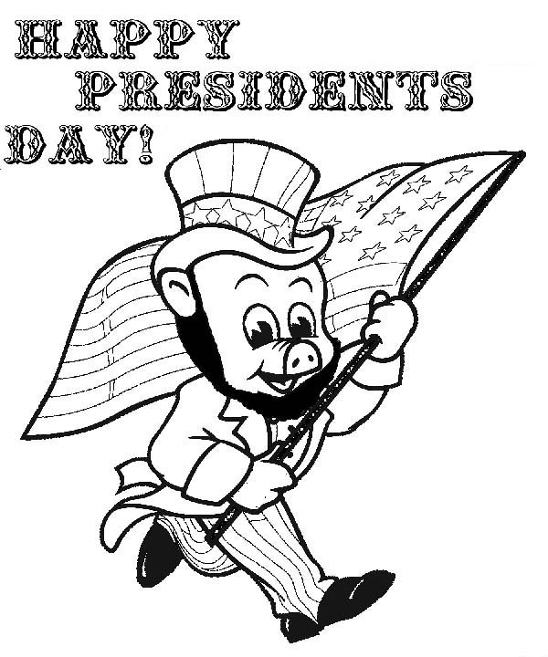 Piggly Wiggly, : Happy Presidents Day Piggly Wiggly Coloring Pages