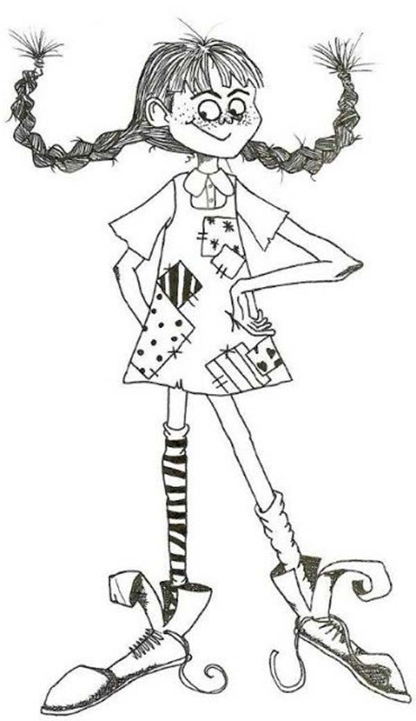 Pippi Longstocking, : How to Draw Pippi Longstocking Coloring Pages
