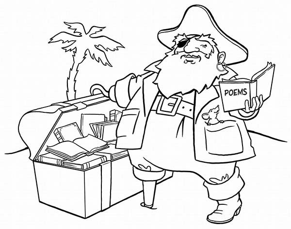 Pirates, : Hunting Pirate Treasure Coloring Pages