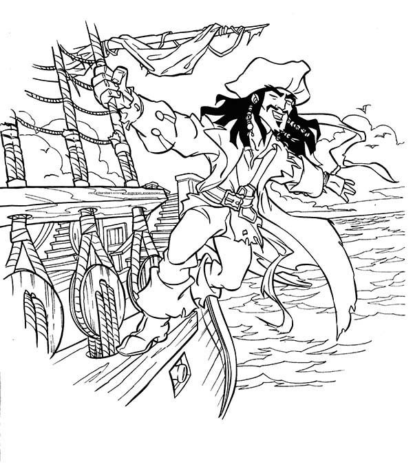 Pirates, : Jake and Neverland Pirate Coloring Pages