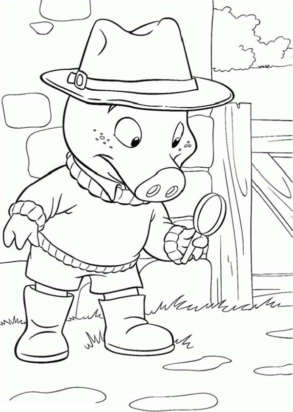 Piggly Wiggly, : Jakers The Adventures of Detective Piggly Wiggly Coloring Pages