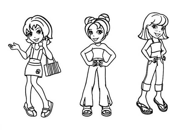 Polly Pocket, : Kids Drawing Polly Pocket Coloring Pages