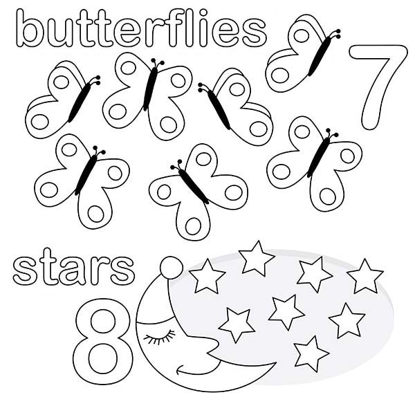 Number 7, : Kids Learn Number 7 Coloring Page