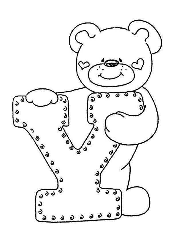 Letter Y, : Learn Alphabet Letter Y Coloring Page