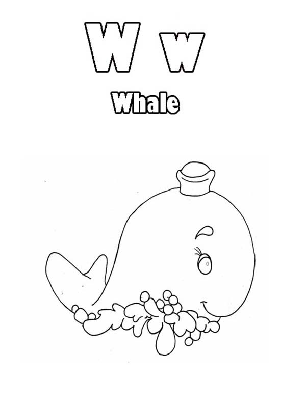 Letter W, : Learn Letter W Coloring Page Animal Edition